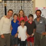 Une partie de pictionnary endiablée et en anglais avec Kirsten et ses enfants... un vrai fou rire !
