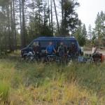 Passage à Yellowstone avec Mary Ann, James et Eric. Bonne grosse journée bien sympathique