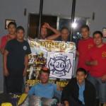 Sympathique soirée chez les bomberos de Purisima Del Rincon! Nous repartir avec les mini casques de pompiers :)