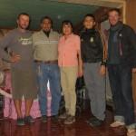 Une douche et un repas offert avec de dormir à l'église, merci à cette sympathique famille de Tlahuelilpan.