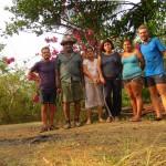 Apres une journee usante sur les chemins de la peninsule de Nicoya, nous nous faisons heberger chez la famille de Angela a Islita !