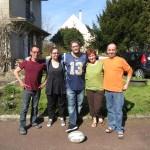 La famille Gouban nous a accueilli a bras ouvert du coté de Limours. Merci pour le coulis de fruit rouge et le gateau au chocolat :-)