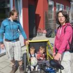 Delphine et Vincent et leurs deux enfants nous accueillent à Lund !! Trop top !