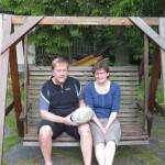 Esko et sa famille nous accueillent une nuit du coté de Sakylä. Un bon moment autour de lasagne aux poulets et un gros sauna !!