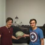 Nicolas et Clément, deux Bordelais en Stage à Helsinki, nous ont contacté pour nous héberger. Evidemment, nous avons accepté ;)