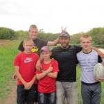 Nous faisons quelques passes avec les jeunes russes :)