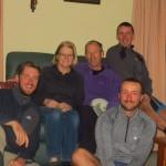 Marc et sa femme nous recoivent au pied leve pour une nuit ! Repas gargantuesque et excellente compagnie.