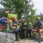 Kim et ses deux enfants sont sur la route depuis 4ans et sur le point de finir leur tour du monde. Un echange inoubliable!